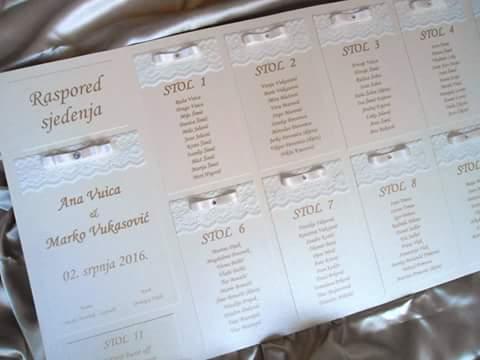 Raspored sjedenja Lace ivory