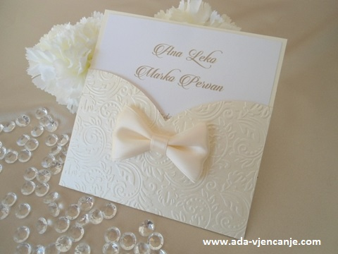 pozivnica za vjenčanje zlatna, elegantna