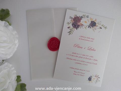 pozivnice za vjenčanje s pausom pečatom