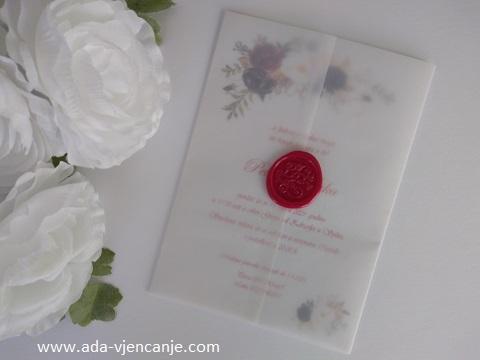 pozivnice za vjenčanje s pečatom crvene